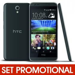 Set Promotional - Folie Sticla + Husa Silicon pentru HTC Desire 620