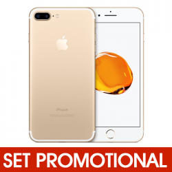 Set Promotional - Folie de Sticla + Husa Silicon (Aurie) pentru APPLE iPhone 7 / 8