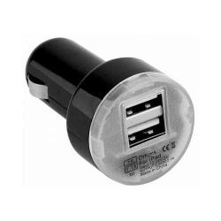 Incarcator Auto 2A cu 2 Porturi USB (Negru) Exclusive Line