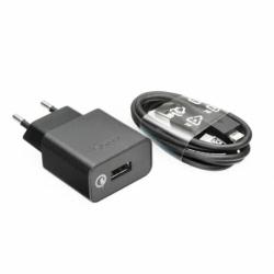 Incarcator Original SONY 1.8A Fast Charge + Cablu MicroUSB (Negru) UCH10+EC803 Bulk