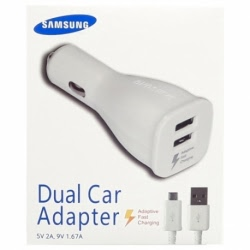 Incarcator Auto Original Fast Charge SAMSUNG LN920 + Cablu (Alb) Blister