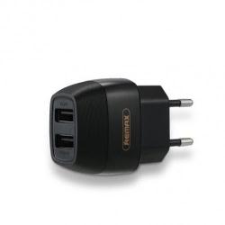 Incarcator Universal 2.1A cu 2 porturi USB (Negru) REMAX Flinc