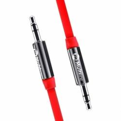 Cablu Audio AUX Jack 3.5mm (Rosu) MultiLine