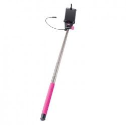 Selfie Stick Universal cu Cablu (Roz) MP-400 Forever