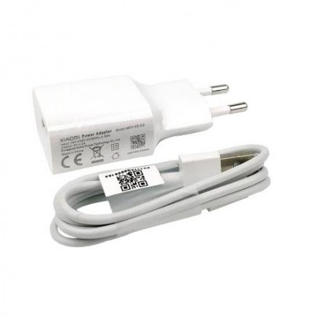 Incarcator Original XIAOMI 2A + Cablu MicroUSB (Alb) MDY-08-E0