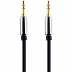 Cablu Plat Jack - Jack 3.5mm AUX (Negru) 3 Metri