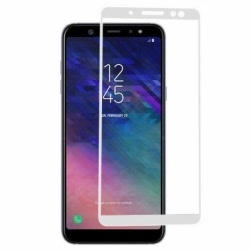 Folie de Sticla 5D SAMSUNG Galaxy A6 2018 (Alb) Full Glue