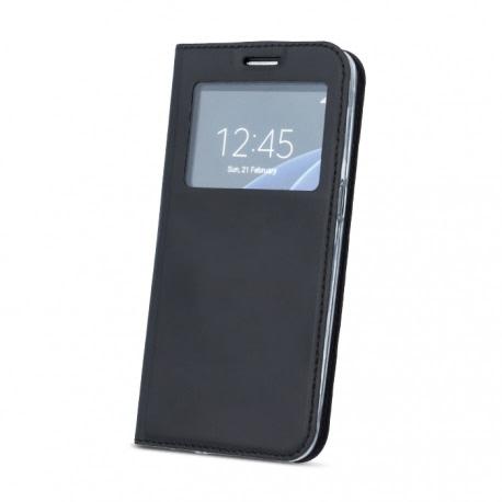 Husa SAMSUNG Galaxy A8 Plus 2018 - Smart Window TSS, Negru