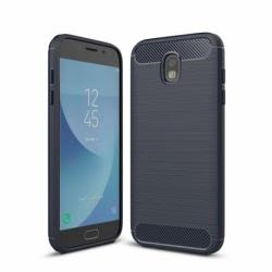 Husa SAMSUNG Galaxy J3 2017 - Luxury Carbon TSS, Bleumarin