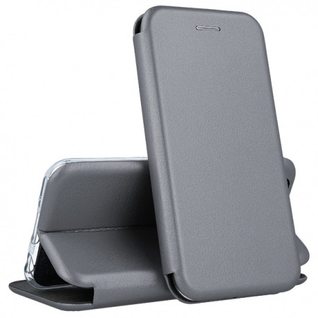Husa SAMSUNG Galaxy A7 2018 - Flip Elegance TSS, Gri