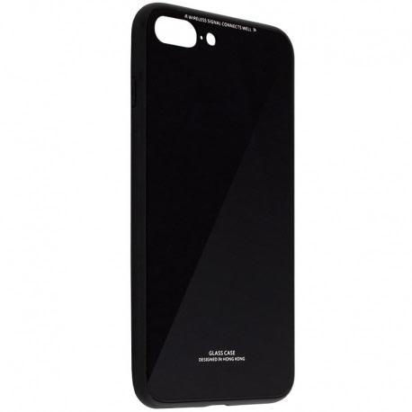 Husa APPLE iPhone 7 Plus \ 8 Plus - Luxury Glass TSS, Negru