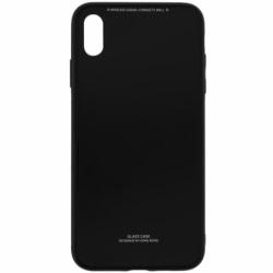 Husa APPLE iPhone XS - Luxury Glass TSS, Negru