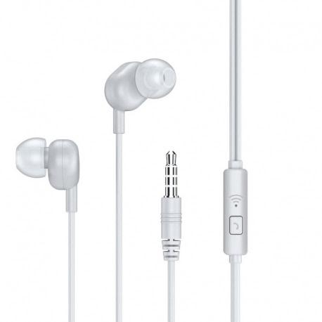 Casti Telefon Audio + Microfon (Alb) REMAX RW-105