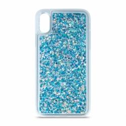 Husa HUAWEI P40 Lite E - Glitter Lichid (Albastru)